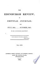 THE EDINBURGH REVIEW  OR CRITICAL JOURNAL  FOR JULY  1861    OCTOBER  1861