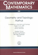 Geometry and Topology, Aarhus