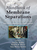 Handbook Of Membrane Separations Book PDF