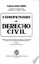 Compendio de derecho civil: Parte general