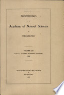 Proceedings Of The Academy Of Natural Sciences Vol Lxi Part Iii Oct Nov Dec 1909