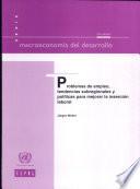 Problemas de empleo, tendencias subregionales y políticas para mejorar la inserción laboral
