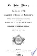 Minor Catalogues of the Public Library of the City of Boston  Fingierter Sammeltitel