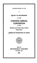 Report Of Proceedings Of The Annual Convention