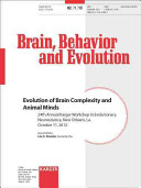 Evolution of Brain Complexity and Animal Minds Book