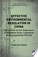 Effective Environmental Regulation in China
