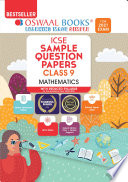 Oswaal ICSE Sample Question Papers Class 9 Mathematics Book (Reduced Syllabus for 2021 Exam)