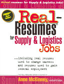 Real Resumes for Supply and Logistics Jobs