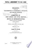 Postal Amendment To H R 12202