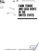 Farm Tenure and Cash Rents in the United States Book PDF