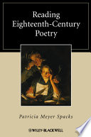 Reading Eighteenth-Century Poetry