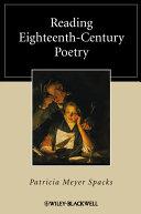 Reading Eighteenth-Century Poetry