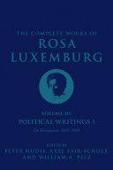 The Complete Works of Rosa Luxemburg Volume III