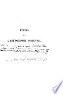 Etudes sur l'astronomie indienne