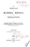 The Essentials of Materia Medica and Therapeutics Book