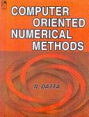 Computer Oriented Numerical Methods Pdf/ePub eBook