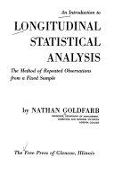 An Introduction to Longitudinal Statistical Analysis Book