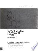 Governmental Finances in