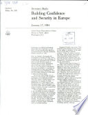 Building Confidence and Security in Europe