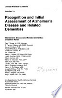 Recognition and Initial Assessment of Alzheimer's Disease and Related Dementias