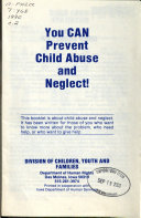 You Can Prevent Child Abuse and Neglect   Book