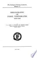 Bibliography Of Fossil Vertebrates