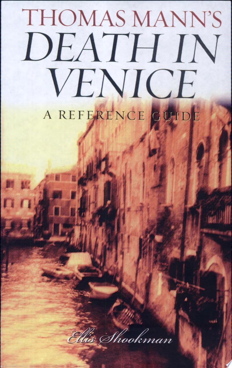 Thomas Mann's Death in Venice banner backdrop
