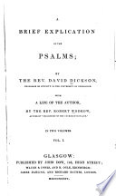 A Brief Explication of the Psalms
