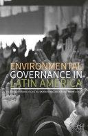 Pdf Environmental Governance in Latin America Telecharger
