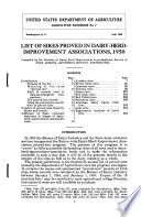 List of Sires Proved in Dairy herd improvement Associations  1950