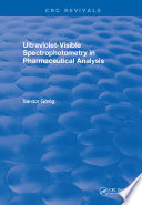 Ultraviolet Visible Spectrophotometry in Pharmaceutical Analysis Book
