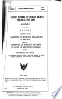 """""""Country Reports on Human Rights Practices For 2006, Vol. 1, April 2008, 110-2 Joint Committee Print, S. Prt. 110-40, *"""" by United States. Congress. Senate. Committee on Foreign Relations"""