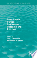 Directions in Person Environment Research and Practice  Routledge Revivals
