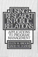 Using Research in Public Relations