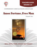 Amos Fortune  Free Man Novel Units Teacher Guide