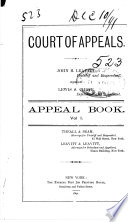 New York Court of Appeals  Records and Briefs  Book