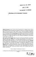 Journal Of Economic Theory Book PDF