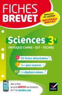 Fiches brevet Physique-chimie SVT Technologie 3e