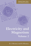 Electricity and Magnetism  Volume 2