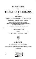 Répertoire du théatre français