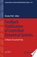 Feedback Stabilization of Controlled Dynamical Systems