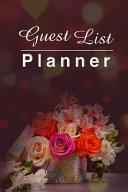 Guest List Planner Book