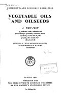 Vegetable Oils and Oilseeds Book