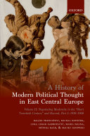 A History of Modern Political Thought in East Central Europe ebook