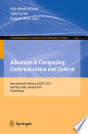 Advances in Computing  Communication and Control