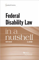 Colker s Federal Disability Law in a Nutshell  6th