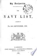 The Navy List Book