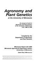 Agronomy and Plant Genetics at the University of Minnesota