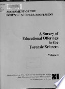 A survey of educational offerings in the forensic sciences Book PDF