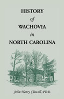 History of Wachovia in North Carolina